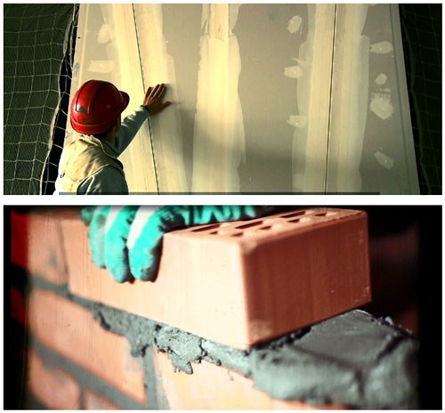 vật liệu thạch cao thi công nhanh gấp 3 lần tường gạch